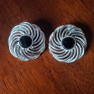 Sarah Coventry 1960s Mystic Swirl Clip on Earrings